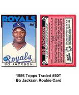 1986 Topps Traded #50T Bo Jackson (RC - Rookie Card) [Misc.] - $1.98