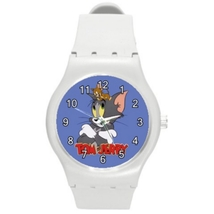 Round Plastic Sport Unisex Watch Highest Quality Tom & Jerry - $21.99