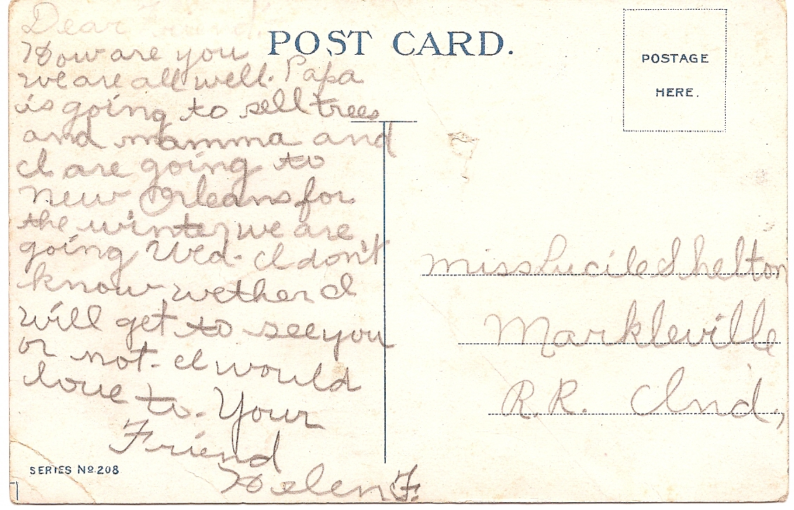 """1911 Rare Post Card """"Believe Me! She's Some Chicken""""  Copyrighted by H.L. Fowler"""