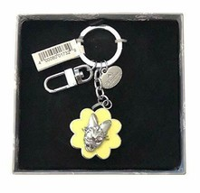 Disney Parks Shanghai Resort Daisy Duck Flower Embossed Metal Keychain - $19.75