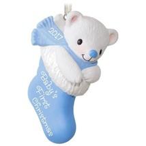 Baby Boy's First Christmas 2017 Hallmark Ornament  Family Blue  Bear  St... - $13.80