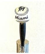 MLB Miami Marlins Beer Tap Handle Pub Kegerator Red Baseball Black Wood ... - $39.55