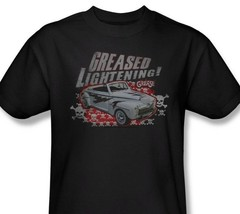 Grease T-shirt Greased Lightning 100% cotton black 70s classic movie tee PAR273 image 1
