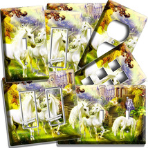 Magical Unicorn Lightswitch Outlet Wall Plate Cover Whimsical Fantasy Room Decor - $8.99+