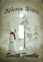 PERSONALIZED ALWAYS SHINE SNOWMAN STAR HOLIDAY LIGHT SWITCH PLATE COVER - $6.25
