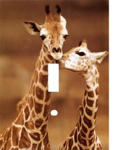 GIRAFFE COUPLE FIRST LOVE KISS LIGHT SWITCH PLATE COVER - £4.73 GBP