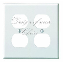 CUSTOM CHOOSE YOUR OWN DESIGN DOUBLE OUTLET LIGH SWITCH PLATE COVER - $7.70
