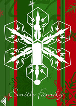 PERSONALIZED CHRISTMAS HOLIDAY GREEN & RED SNOWFLAKE LIGHT SWITCH PLATE ... - $6.25