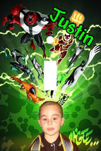 PERSONALIZED YOUR PHOTO BEN 10 CARTOON LIGHT SWITCH PLATE COVER - $7.25
