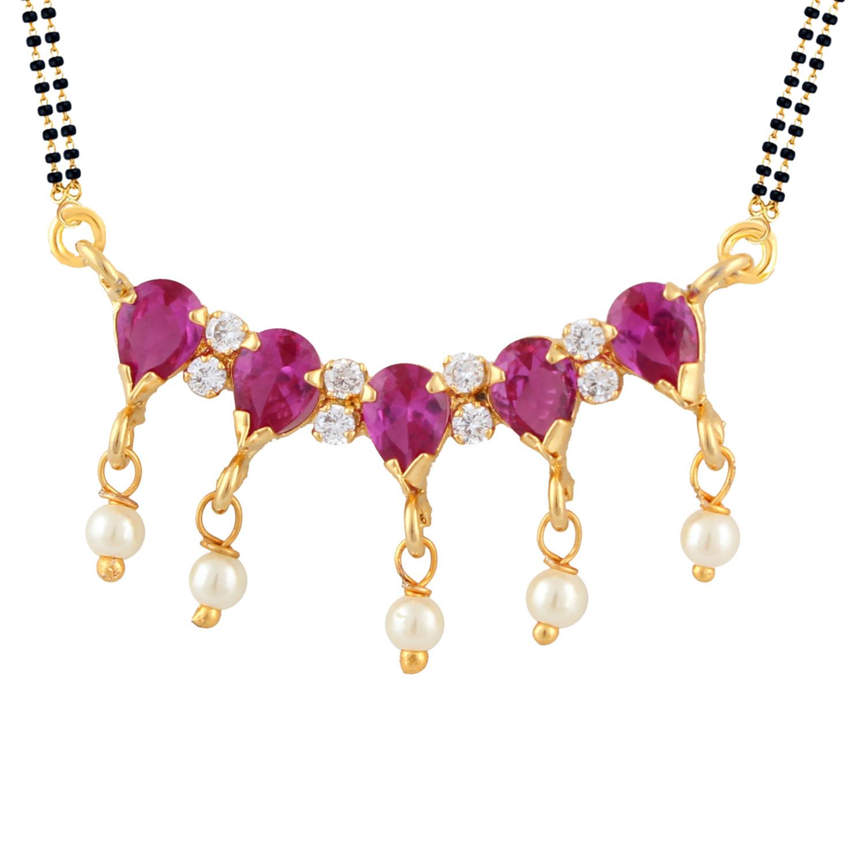Efulgenz Cubic Zirconia Necklace Set for women