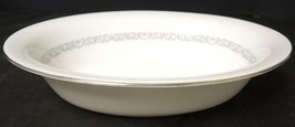 Oval Vegetable Bowl * Minton China * Silver Scroll Pattern - $21.27