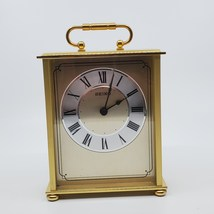 Vintage Seiko Desk And Table Carriage Clock Gold-Tone Solid Brass HQG102GL  - $52.00