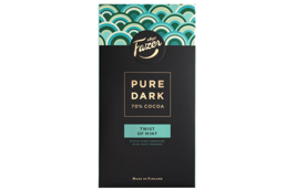 Fazer Pure Dark 70% cocoa Mint chocolate bars 95g (set of eight) - $44.54