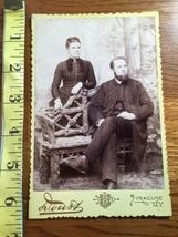 Cabinet Card Bearded Man & Wife NY Studio Art 1860-80 Nice! - $12.00