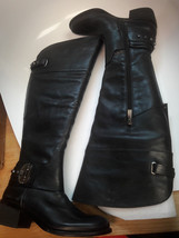 $249 Vince Camuto Beatrix Ankle Studded Riding Boots, Black, Size 6M / 36 - $98.99