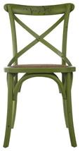 David Tutera Metal Wood Rattan Bistro Chair, Green - $244.26