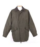 Rainforest Green Down Coat Insulated Heavy Winter Jacket Micro Fiber Men... - $68.30