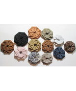 Custom Made! Flower Coin Purses Pinwheels Leather , Hand Crafted leather. - $12.75