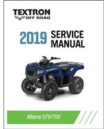 2019 Textron Off Road (Arctic Cat) Alterra 570 / 700 ATV Service Manual CD - $12.00