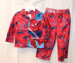 NEW BOYS KIDS SIZE 2T SPIDERMAN SPIDER MAN 2 PIECE PAJAMAS PJS OUTFIT PA... - $6.89