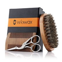 Wowax Beard Brush and Comb Set for Men - Bamboo Boar Bristle Beard Brush, Wood B image 12