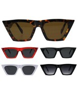 Womens Futuristic Squared Flat Top Cat Eye Goth Retro Mod Sunglasses - $9.95