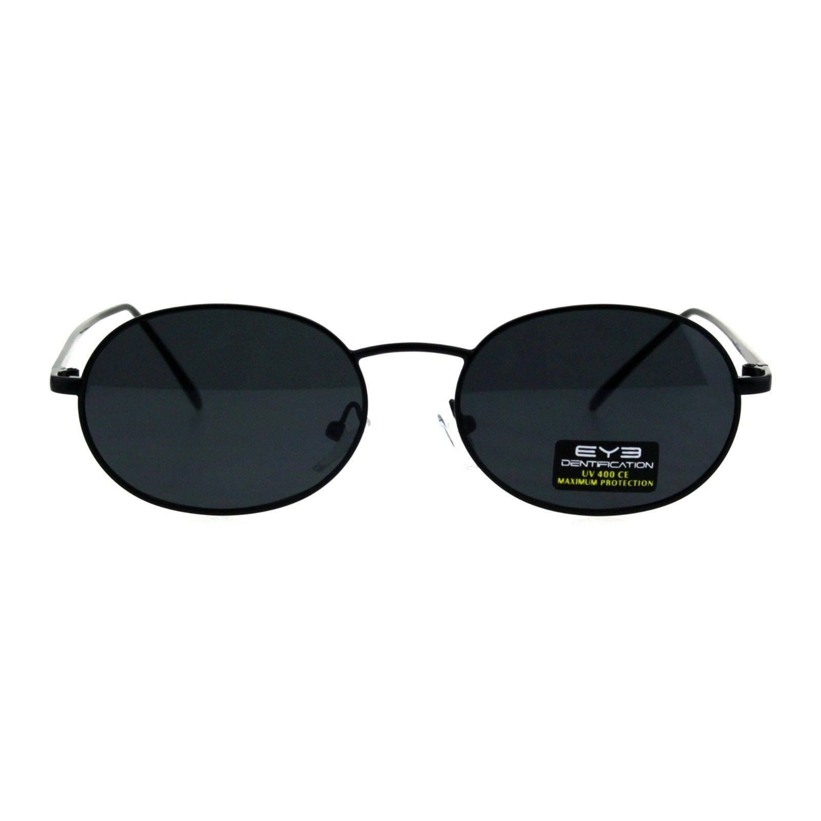 Unisex Oval Sunglasses Metal Frame Vintage Retro Fashion UV 400