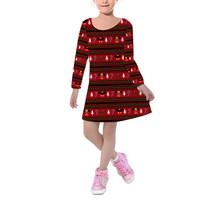 Christmas Mickey & Minnie Sweater Pattern Disney Inspired Kids Velvet Winter Dre - $53.99 - $56.99