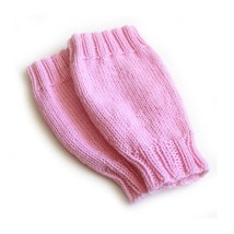 Pink Hand Knit Leggings. 9 to 12 Months - $24.00