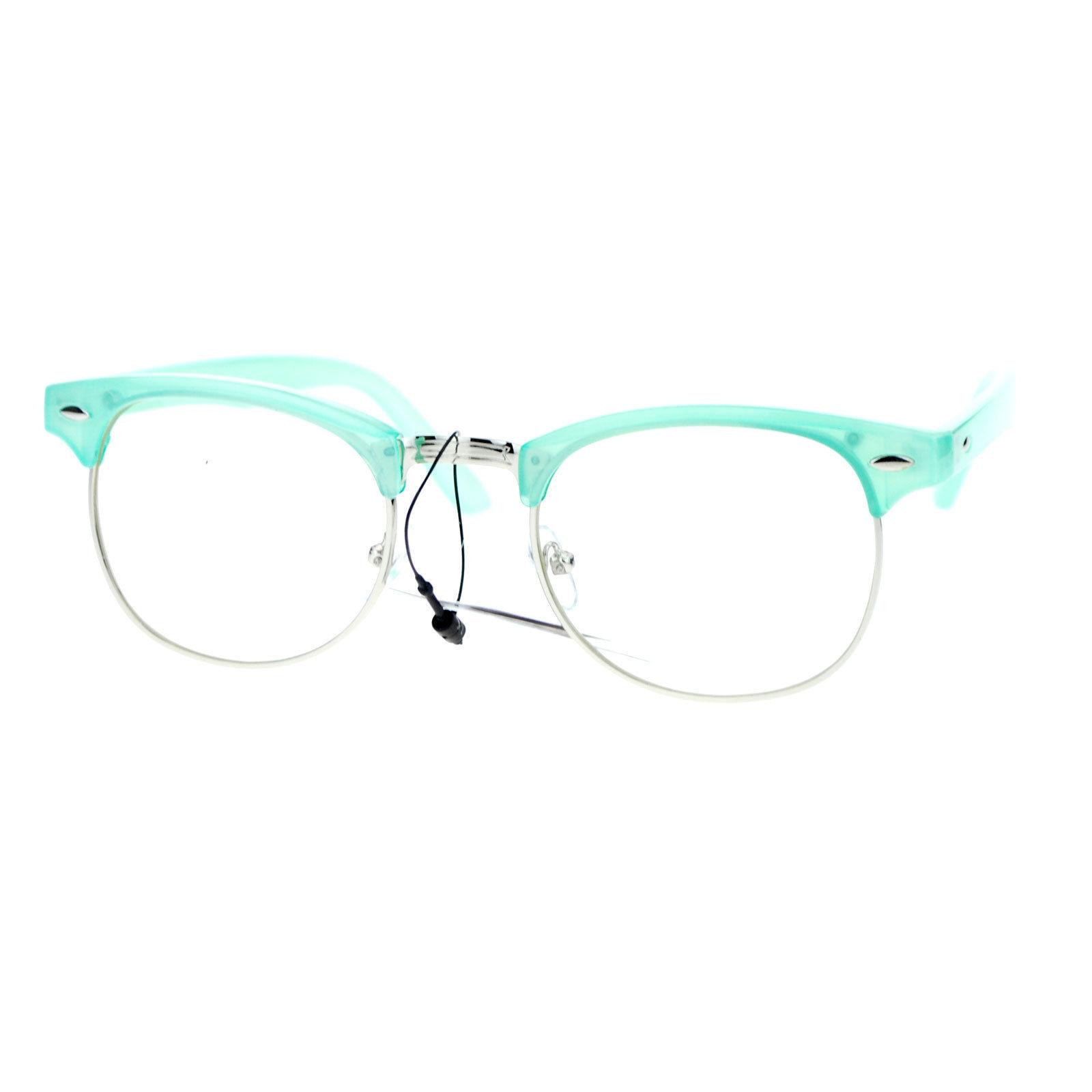 Pastel Color Clear Lens Glasses Designer Club Fashion Eyeglasses