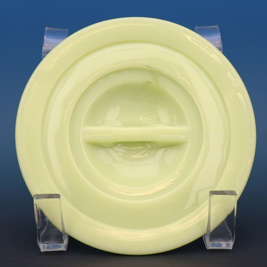 Vintage Jeannette Jadeite Depression Glass Lid for Drippings Jar or Canister 333