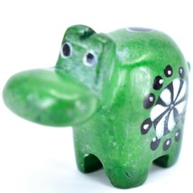 Tabaka Chigware Hand Carved Soapstone Green Hippopotamus Hippo Miniature Figure image 2