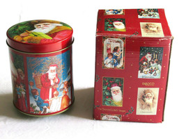 Enesco Santa Claus is coming to Town Shoppe Music Box Tin 1985 Grossmans... - $18.99