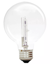 General Electric 60w 3pk G25 Energy Efficient Halo Light Bulb Crystal Clear image 2