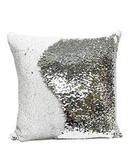 "Fennco Styles Glam Mermaid Sequin Throw Pillow - 16""x16"" (Cover + Insert... - $540,14 MXN"