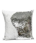 "Fennco Styles Glam Mermaid Sequin Throw Pillow - 16""x16"" (Cover + Insert... - $35.15 CAD"