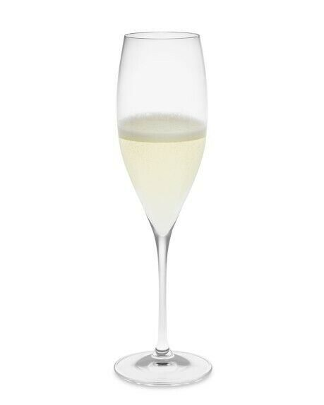 1 (One) RIEDEL VINUM Lead Free Crystal Fluted Champagne Glass - Signed