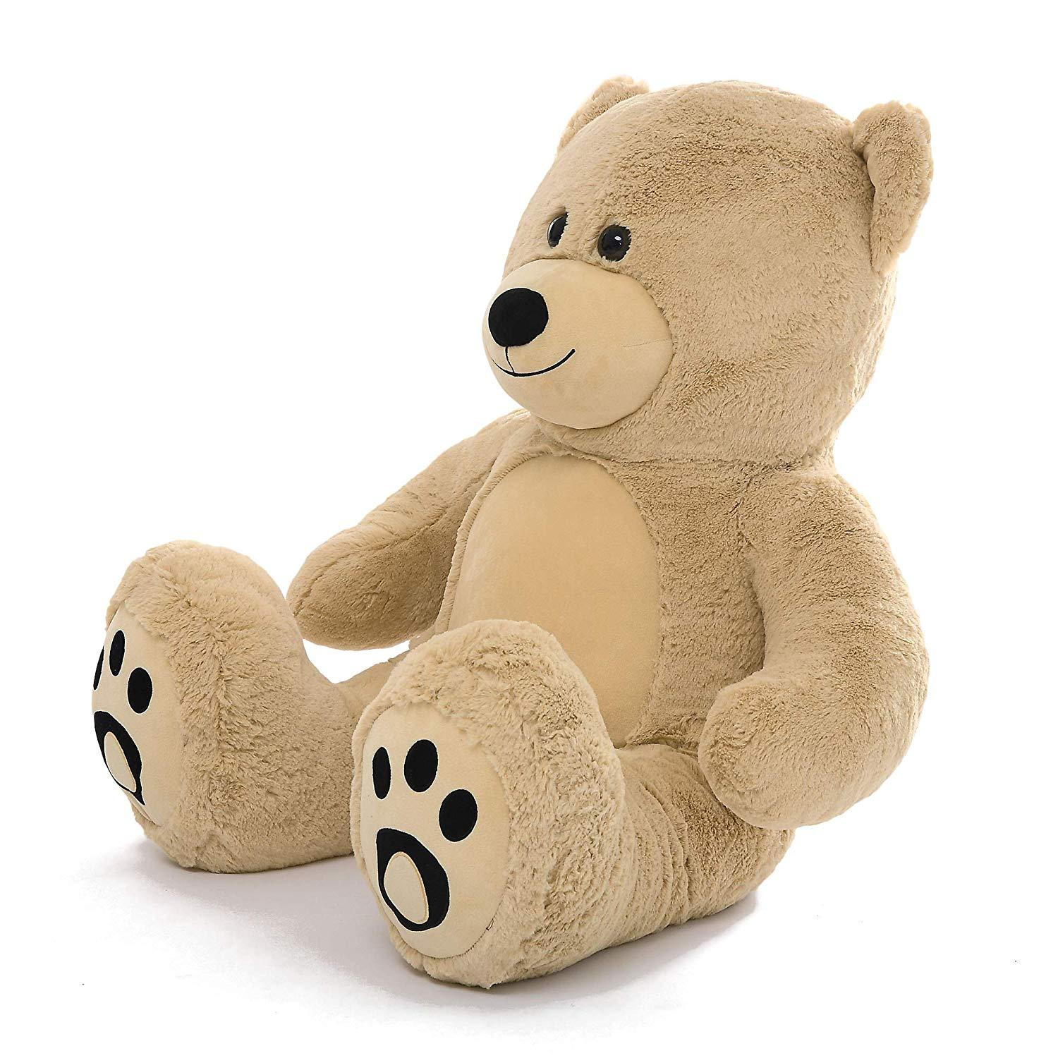 """WOWMAX Light Brown Teddy Bear 36"""" Large Stuffed Animal Plush Toys Unique Style"""