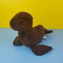 "Destination Nation Plush Brown Seal 14"" Stuffed Animal 2017 Aurora  - $8.90"