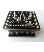 New cute handmade black wooden secret magic puzzle jewelry ring holder b... - $35.00