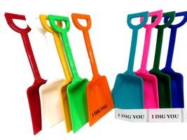12 Toy Sand Beach Shovels 6 ea Lime /& Pink /& I Dig You Stickers Mfg USA  No Bpa*