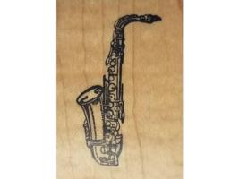Vintage PSX 1980 Saxophone Rubber Stamp #D-425 image 1
