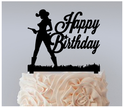 Decorations Birthday Cake topper,Cupcake topper,silhouette sexy cowgirl : 11 pcs - $20.00