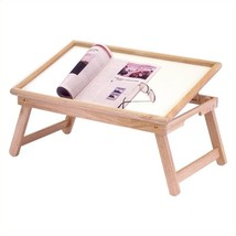 Flip Top Bed Tray Foldable Wood Home Office Breakfast TV Laptop Serving ... - $32.96