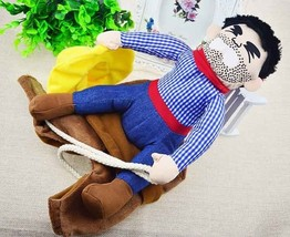 Funny Pet Suit Dog Cowboy Costumes Riding Knight Clothes Style Holiday P... - $15.99+