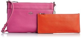 NWT COACH EMBOSSED TEXTURED LEATHER SWINGPACK WITH POP UP POUCH FUCHSIA - $115.14