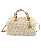 Michael Kors BRAND NEW Grayson Signature Coated Twill Vanilla Large Satc... - $249.00