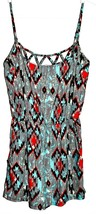 Tilly's Full Tilt 62253 Lattice Ethnic Multicolor Print Romper Size S NWT image 1
