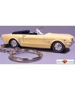 RARE KEY CHAIN RING PHOENICIAN YELLOW 1965 FORD MUSTANG CONVERTIBLE CUST... - $39.18