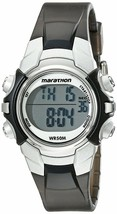 Women's Marathon by Timex Black Silver Digital Mid-Size Watch T5K805M6 NWOT